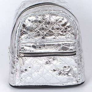 Quilted crackle mini backpack